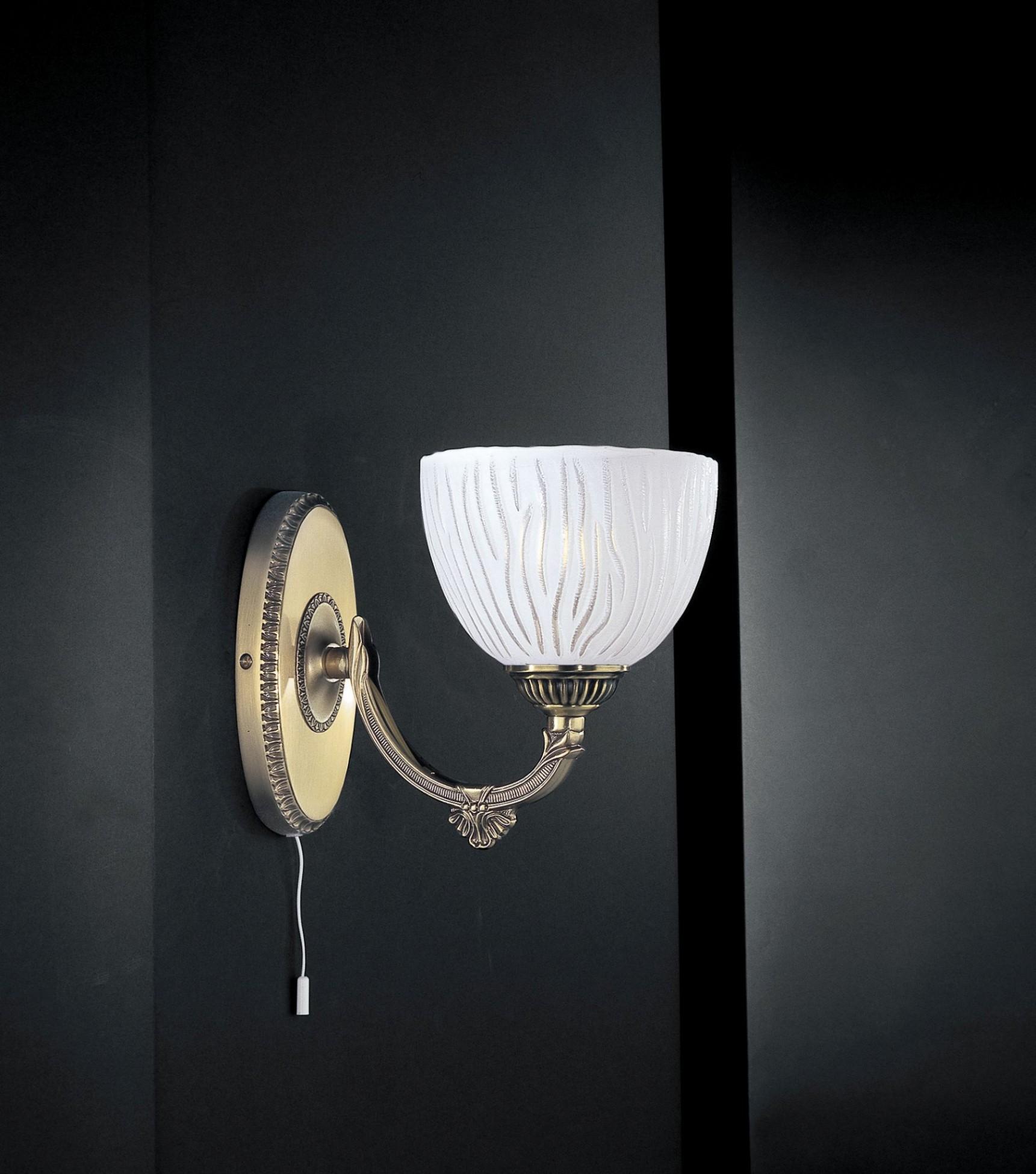 Lampade Ottone E Vetro: Applique ottone e vetro am fd bolletta lampade.