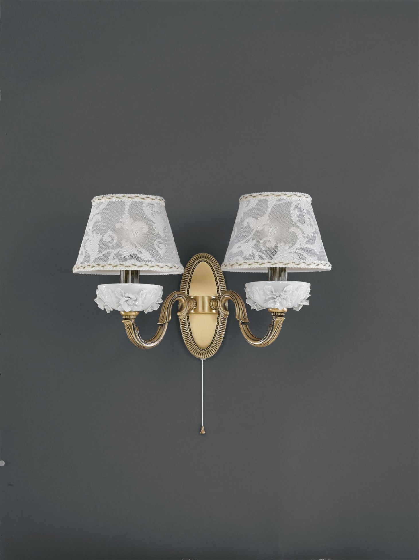 Br Wall Sconce With Lamp Shades