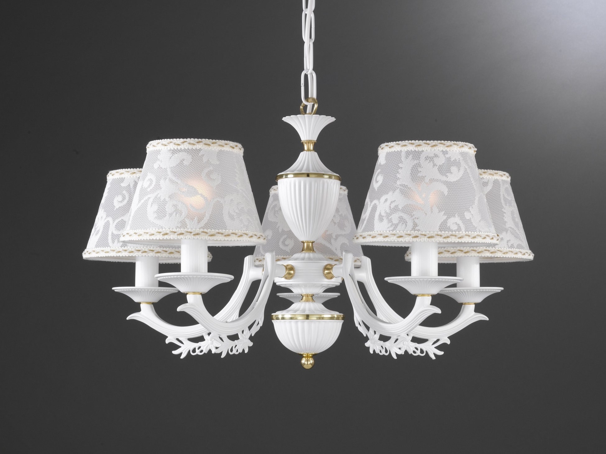 Chandeliers With L Shades 3 Lights Brass Wood And Glass
