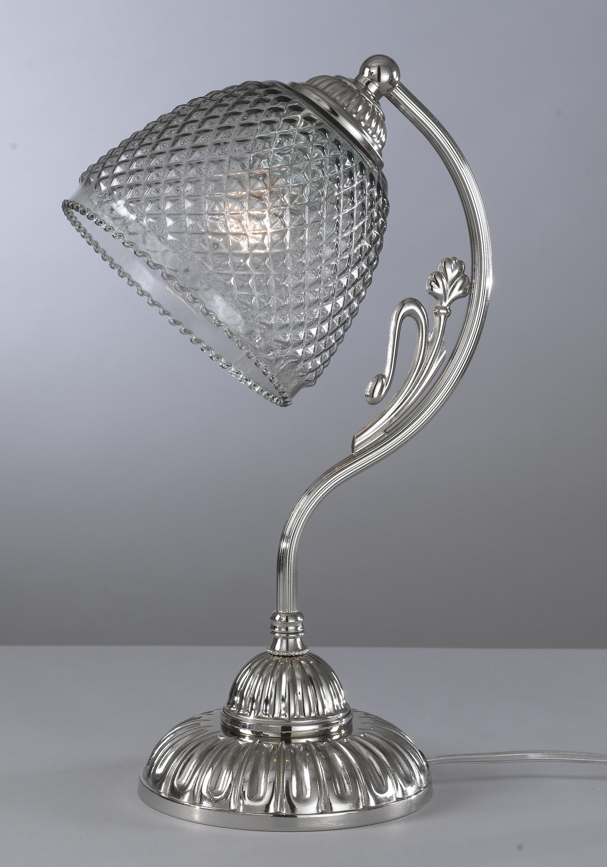 tischlampe aus messing und eisen geblasenes ger uchert glas reccagni store. Black Bedroom Furniture Sets. Home Design Ideas