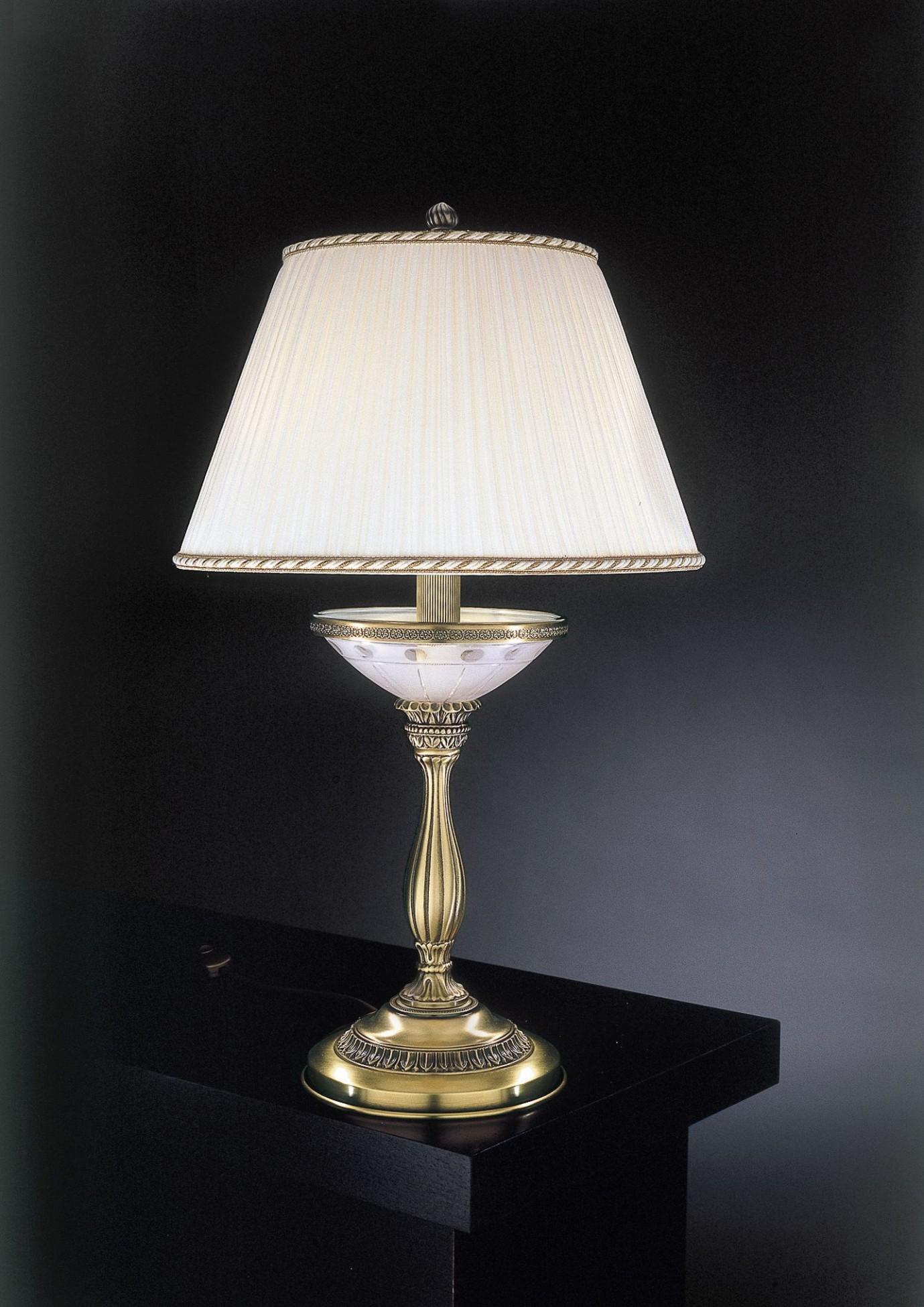 tischlampe aus messing mit satiniertem glas und lampenschirm reccagni store. Black Bedroom Furniture Sets. Home Design Ideas