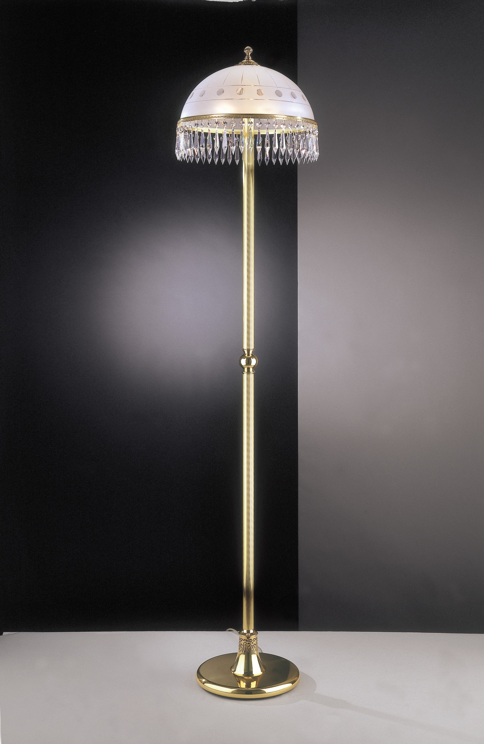 Stehlampe franz sisches gold reccagni store - Stehlampe mit kristallen ...