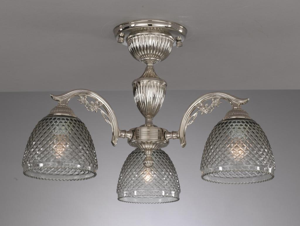 Applique in ottone e ferro vetro soffiato fumé reccagni store