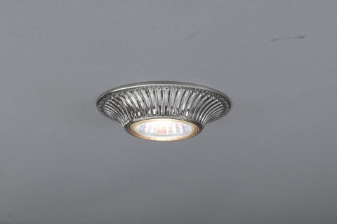Traditional Nichel brass recessed ceiling spotlight