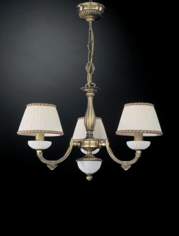 Nachttischlampe aus messing mit weiss glas und for Kronleuchter mit lampenschirm