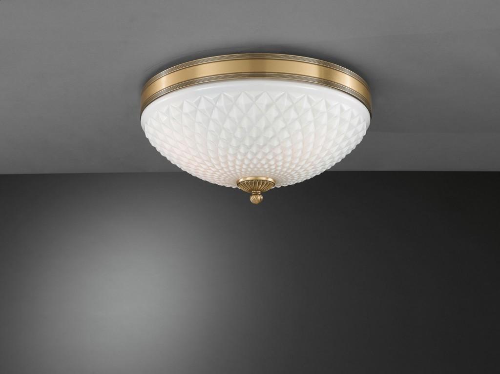Plafoniere Classiche In Vetro Di Murano : Lampada da comodino in ottone con vetro soffiato bianco diamantato