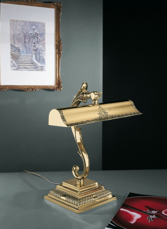 Antique golden brass desk lamp