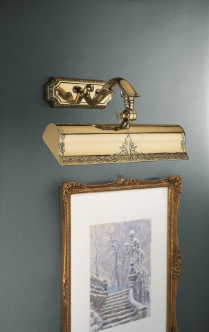 Antique golden brass picture light