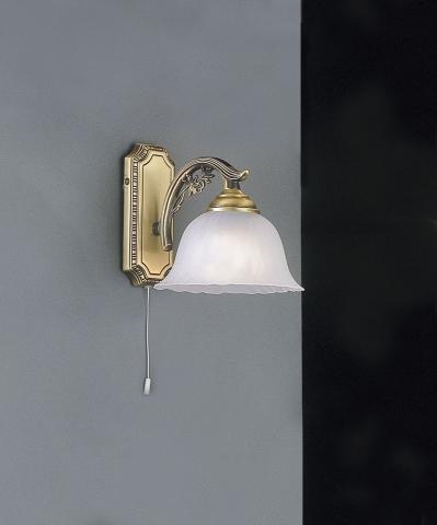 Lampade da parete e applique classiche in ottone for Applique da parete