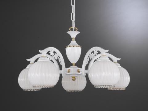Applique classica da parete vetro bianco soffiato luce verso