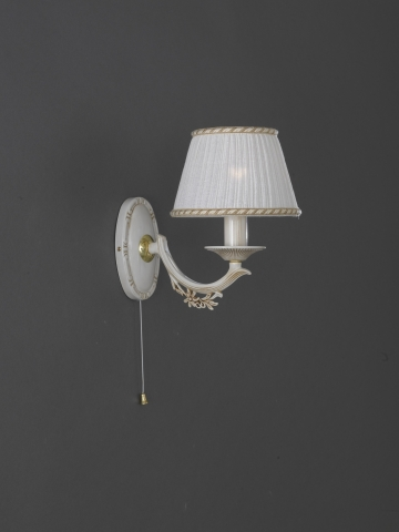 Small brass bedside lamp with lamp shade reccagni store one light old white brass wall sconce with lamp shades aloadofball Gallery