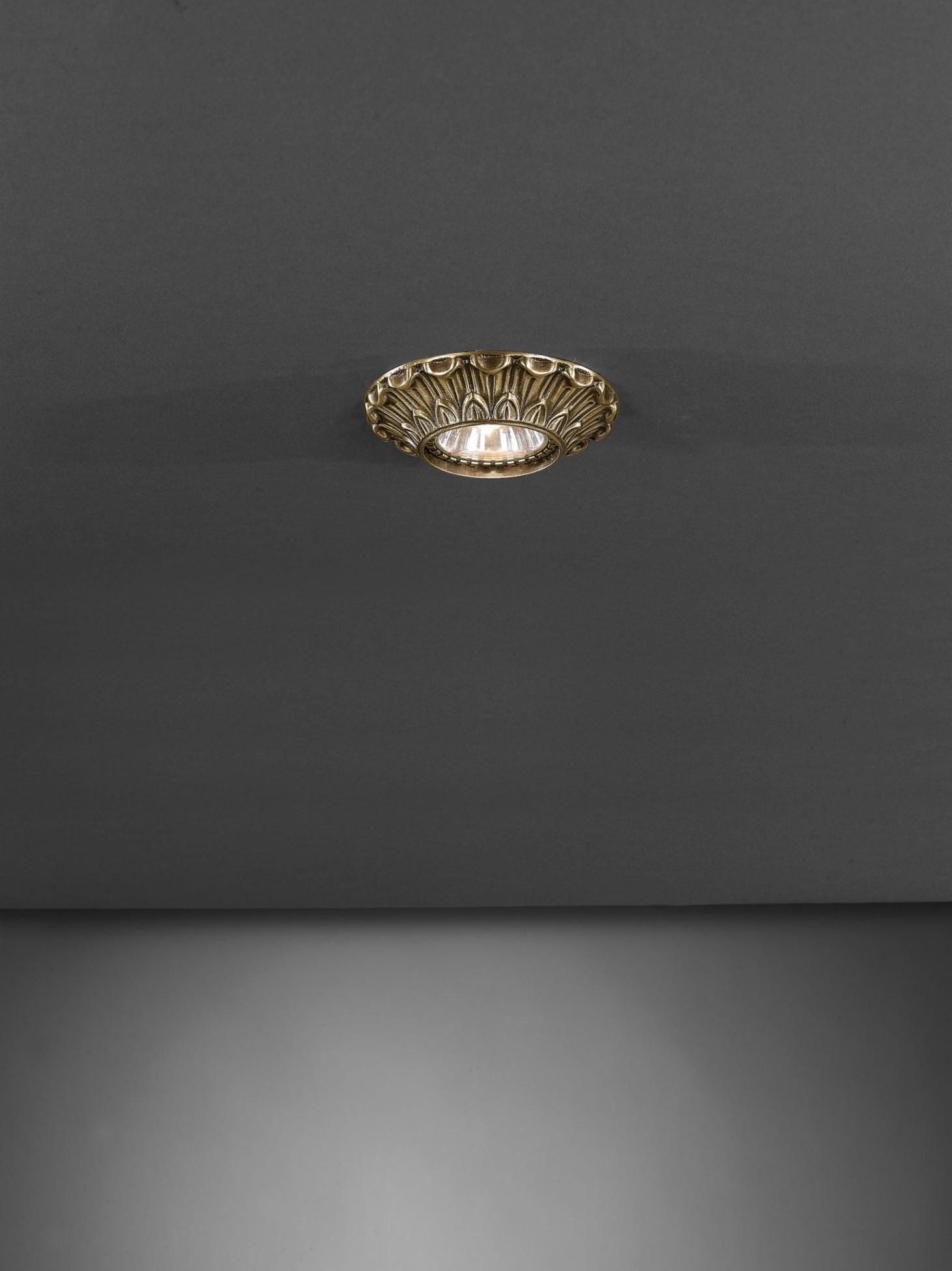Faretti E Spot Da Soffitto faretto da incasso a soffitto in ottone