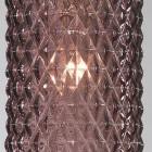 Lampada da comodino, finitura Nichel, vetro soffiato colore Ametista P.10001/1